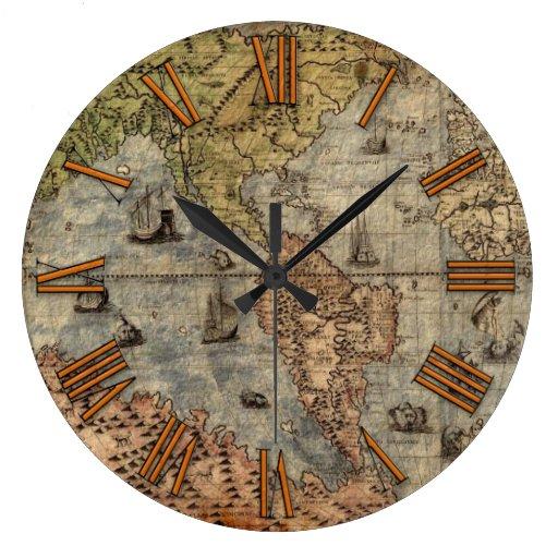 Reloj antiguo del diseñador de la historia del map