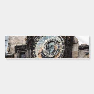 Reloj antiguo del reloj de la astrología en Praga  Pegatina Para Auto