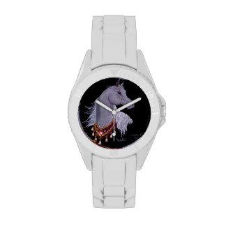 Reloj árabe del caballo de la demostración del