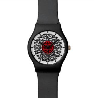 Reloj asiático del adorno
