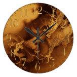 Reloj asiático del arte de la fantasía del dragón