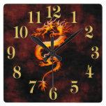 Reloj asiático oriental del diseñador del dragón d