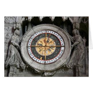 Reloj astrológico Chartres Tarjeta De Felicitación