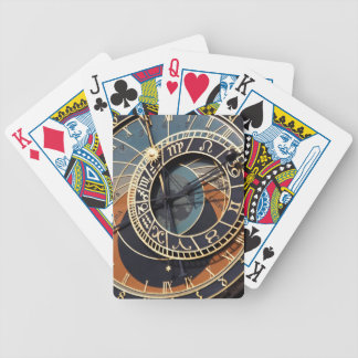 Reloj astrológico medieval antiguo Checo Baraja Cartas De Poker