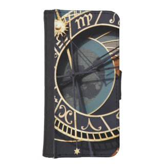 Reloj astrológico medieval antiguo Checo Billetera Para Teléfono