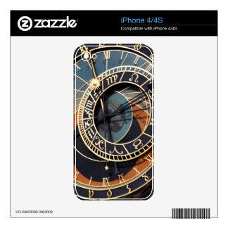 Reloj astrológico medieval antiguo Checo Calcomanías Para El iPhone 4