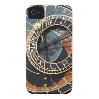 Reloj astrológico medieval antiguo Checo Case-Mate iPhone 4 Carcasa