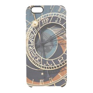 Reloj astrológico medieval antiguo Checo Funda Clearly™ Deflector Para iPhone 6 De Uncommon