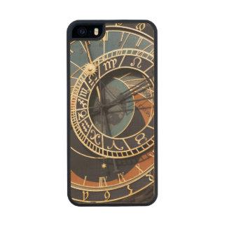 Reloj astrológico medieval antiguo Checo Funda De Arce Carved® Para iPhone 5