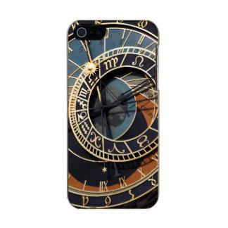 Reloj astrológico medieval antiguo Checo Funda Para iPhone 5 Incipio Feather Shine