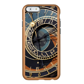Reloj astrológico medieval antiguo Checo Funda Para iPhone 6 Plus Incipio Feather Shine