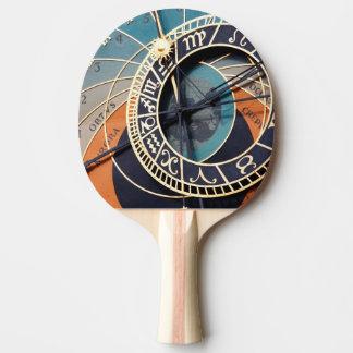 Reloj astrológico medieval antiguo Checo Pala De Tenis De Mesa