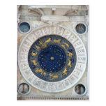 Reloj astrológico, plaza San Marco, Venecia Tarjeta Postal