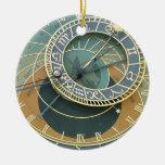 Reloj astronómico adorno redondo de cerámica