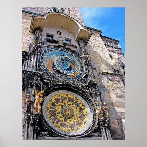 Reloj astronómico, ciudad vieja, Praga (2) Posters