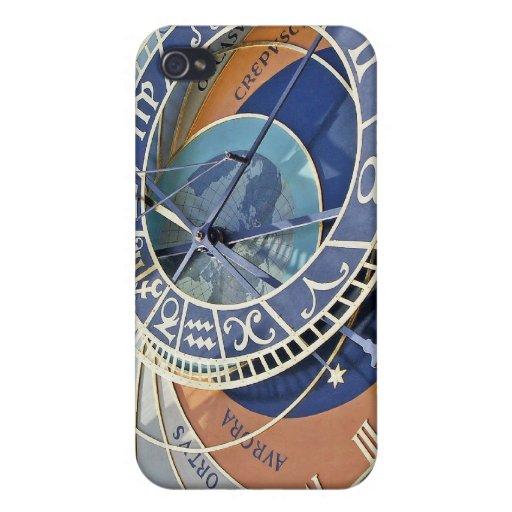 Reloj astronómico, ciudad vieja, Praga iPhone 4/4S Carcasas