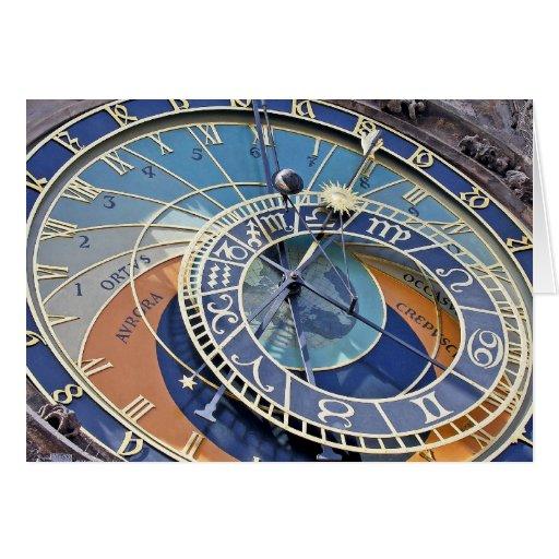 Reloj astronómico, ciudad vieja, Praga Tarjeta De Felicitación