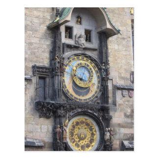 Reloj astronómico de Praga en la vieja plaza Tarjeta Postal