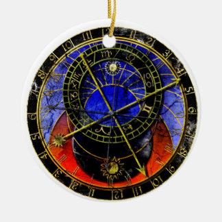 Reloj astronómico adornos