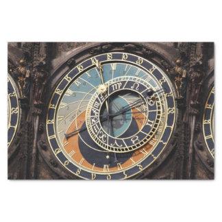 Reloj astronómico en Praga Papel De Seda Pequeño