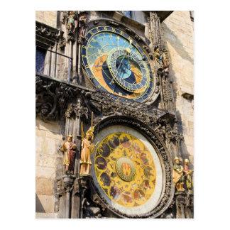 Reloj astronómico en Praga Tarjetas Postales