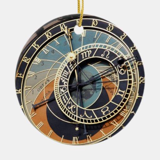 Reloj astronómico en Praque Adornos De Navidad