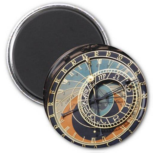 Reloj astronómico en Praque Imán De Nevera