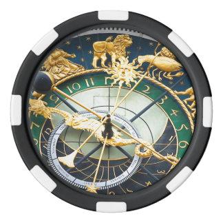 Reloj astronómico fichas de póquer