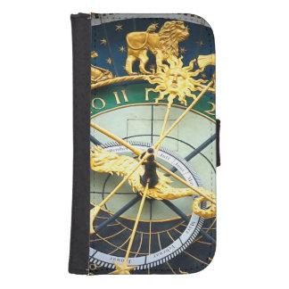 Reloj astronómico funda billetera para teléfono