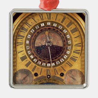 Reloj astronómico hecho para el delfín magnífico adorno navideño cuadrado de metal
