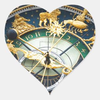 Reloj astronómico pegatina en forma de corazón