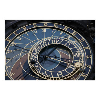 Reloj astronómico póster