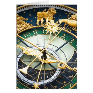 Reloj astronómico tarjeta pequeña