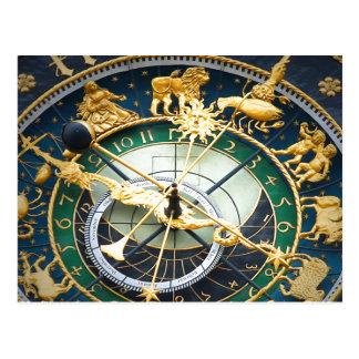 Reloj astronómico tarjetas postales