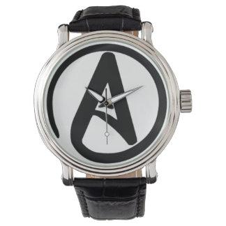 Reloj ateo del símbolo del Vintage-Estilo