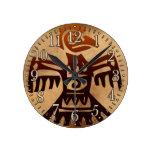 Reloj azteca de la historia de arte de México del