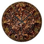 Reloj azteca de la historia de México del