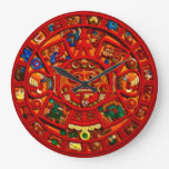 Reloj azteca de la historia del disco maya rojo de