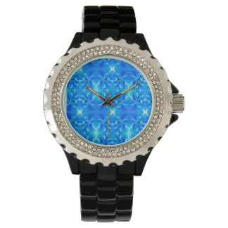 reloj azul brillante fresco de la flor