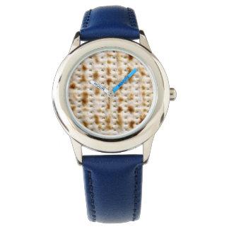 Reloj azul de la correa del Passover del Matzo