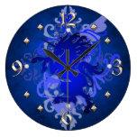 Reloj azul de la fantasía del unicornio