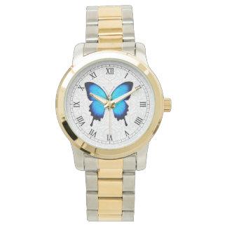 Reloj azul de la mariposa de Papilio Ulises