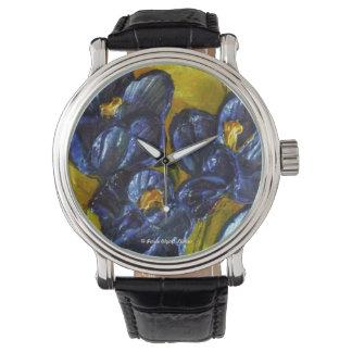 Reloj azul de las azafranes