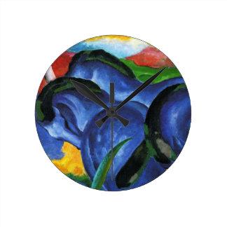 Reloj azul de los caballos de Franz Marc