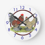 Reloj azul de los gallos de Mille Fleur