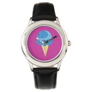 Reloj azul del helado