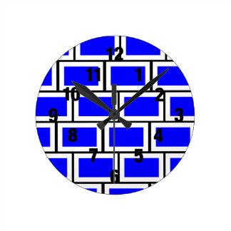 Reloj azul del ladrillo