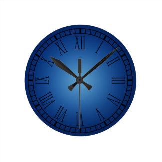 Reloj azul del número romano