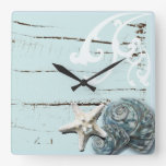 Reloj azul elegante romántico de la moda de la pla