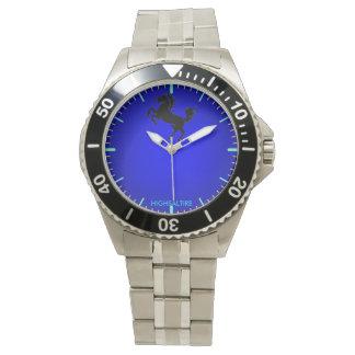 reloj azul para hombre del dial por el highsaltire